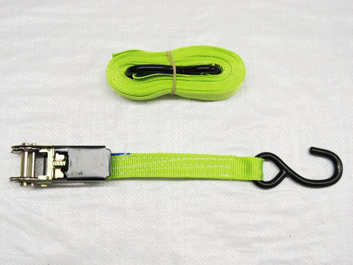 High Visibility Ratchet Straps With S Hooks